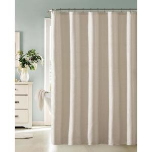 Little Rock 72 inch Champagne Fabric Shower Curtain with Lurex by