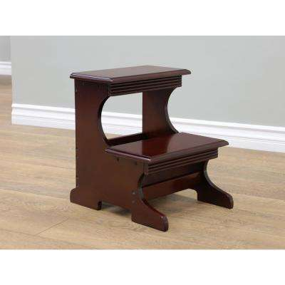 13.3 in. x 16.3 . Dark Walnut Step Stool