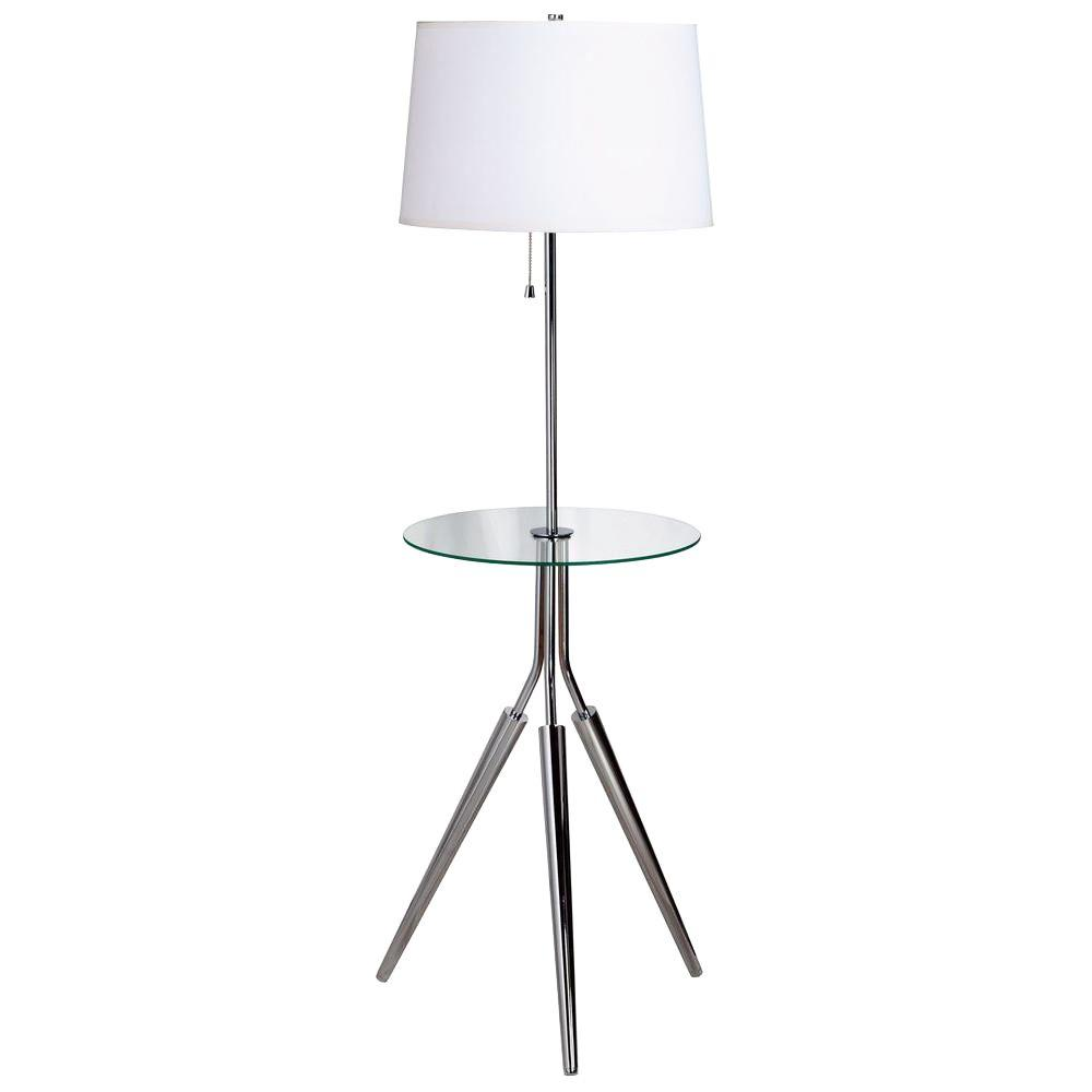 Chrome Floor Lamp With Tray
