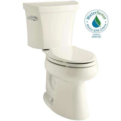 Highline 2-Piece 1.0 GPF Single Flush Elongated Toilet in Biscuit