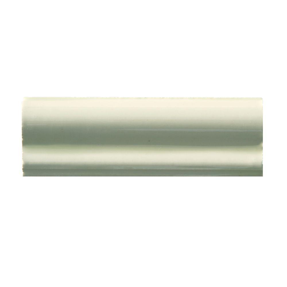 6 Chair Rail Part - 17: Solistone Hand-Painted Crema 2 In. X 6 In. Ceramic Chair Rail Trim Wall  Tile-CREMA-CR - The Home Depot