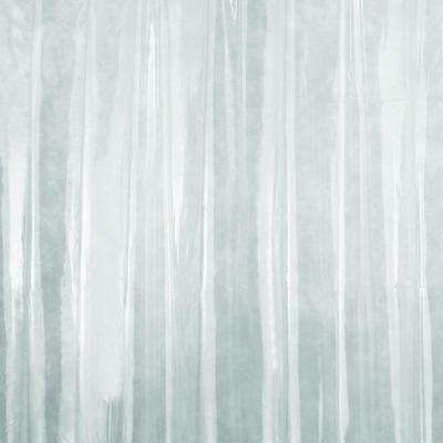 Stall Size Shower Curtain Liner in Clear