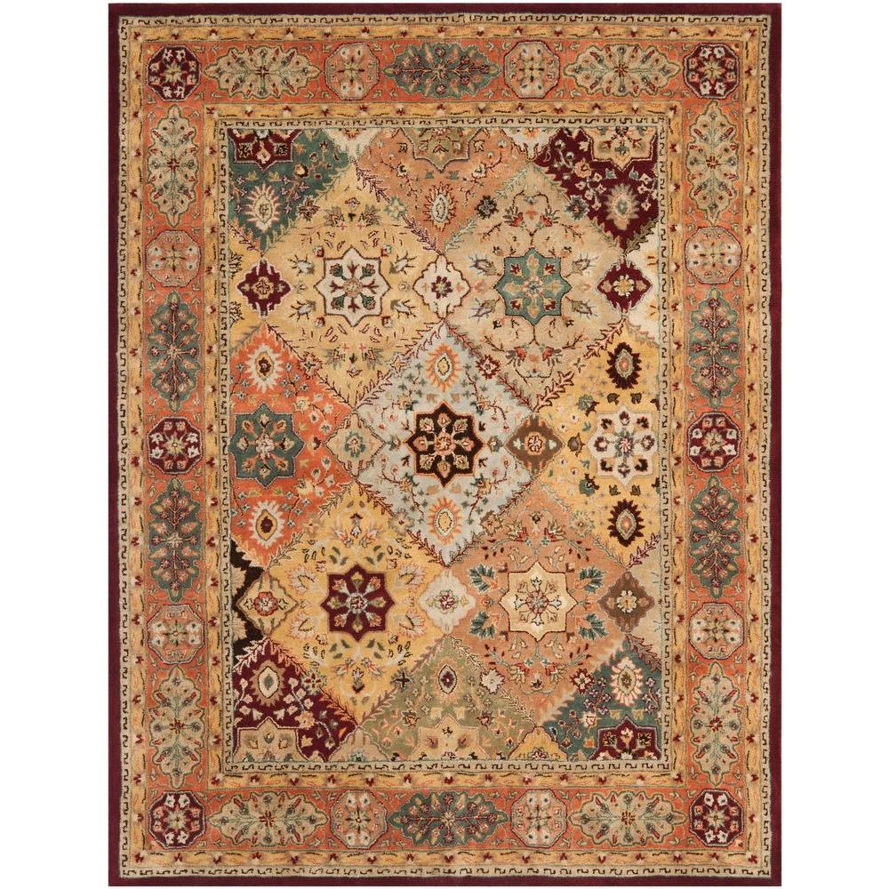 safavieh persian legend red rust 7 ft 6 in x 9 ft 6 in area rug pl812a 8 the home depot. Black Bedroom Furniture Sets. Home Design Ideas