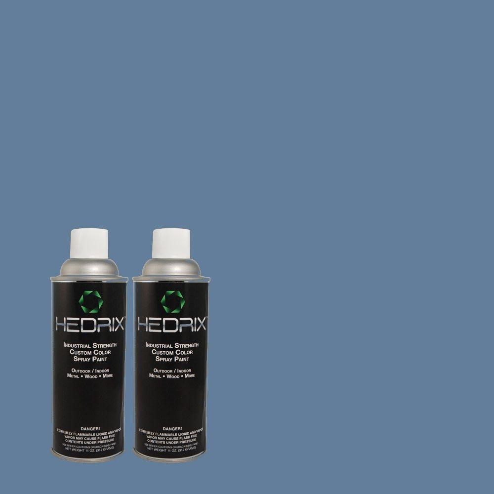 Hedrix 11 oz. Match of BHG-57 Stadium Low Lustre Custom Spray Paint (2-Pack)