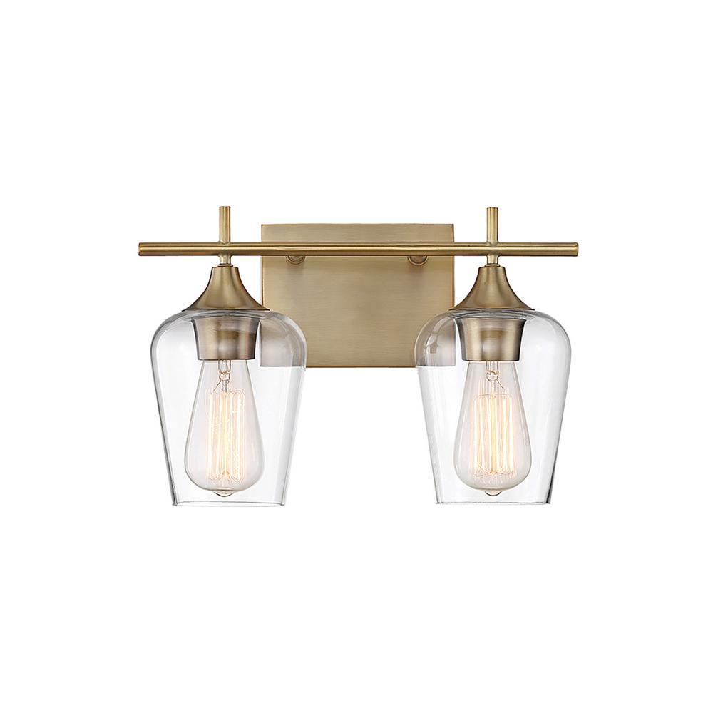 Filament Design 2-Light Warm Brass Bath Light  sc 1 st  Home Depot & Filament Design 2-Light Warm Brass Bath Light-CLI-SH266911 - The ... azcodes.com