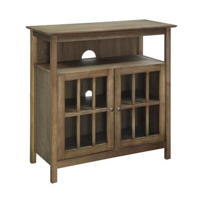Big Sur 36 in. Driftwood TV Stand Fits TVs Up to 42 in. with Storage Doors