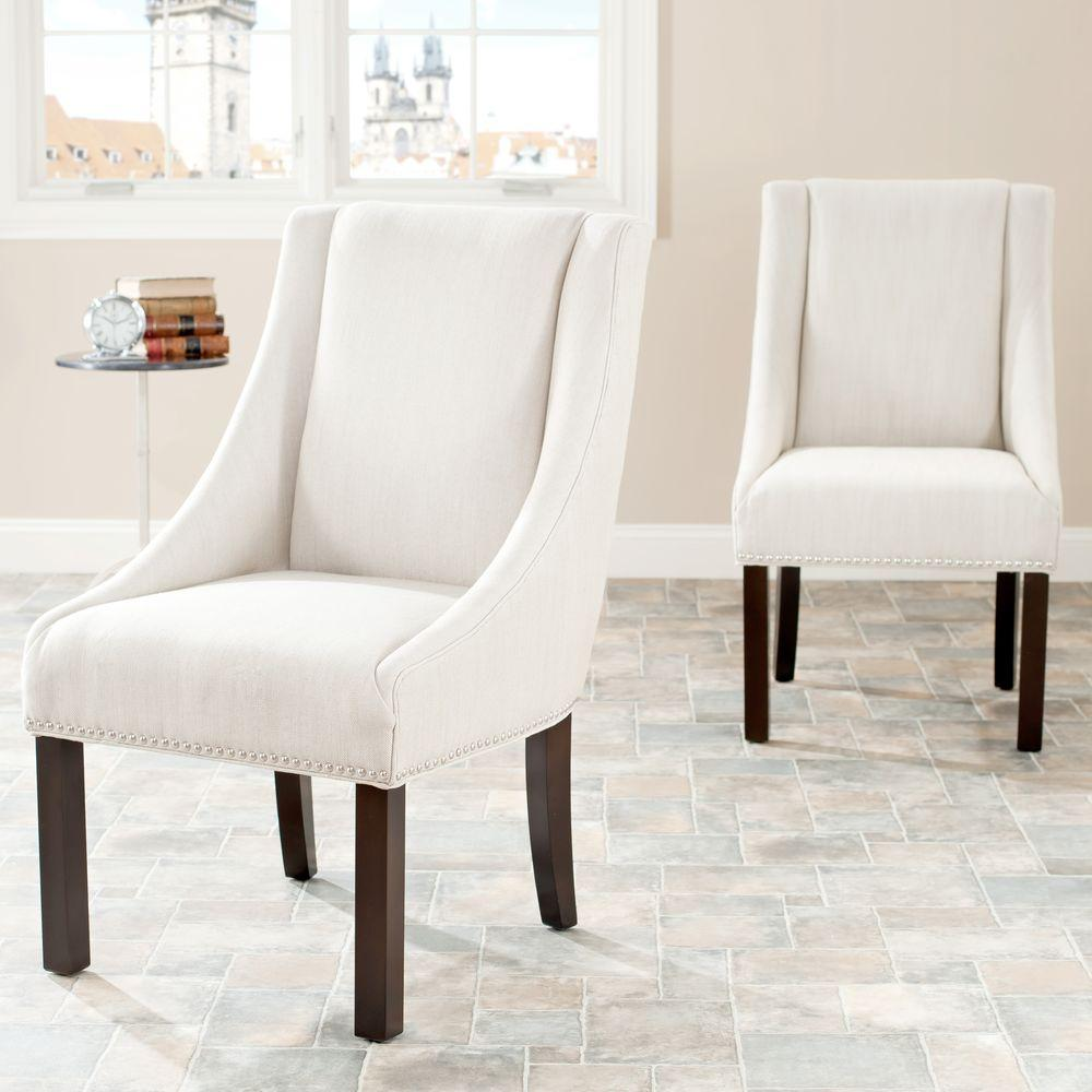 Safavieh Morris Beige Linen Dining Chair Set Of 2