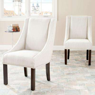 Morris Beige Linen Dining Chair (Set of 2)