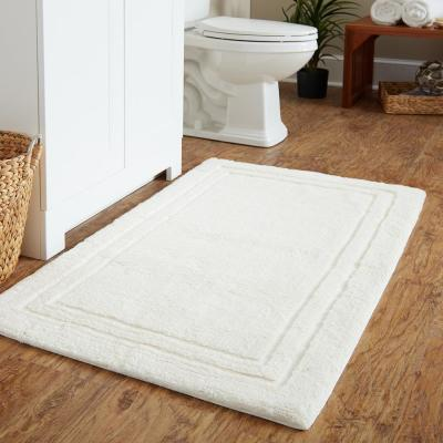 Imperial 30 in. x 50 in. Cotton Bath Mat in Parchment