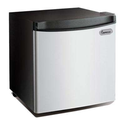 1.7 cu. ft. Mini Fridge in Stainless Look Front