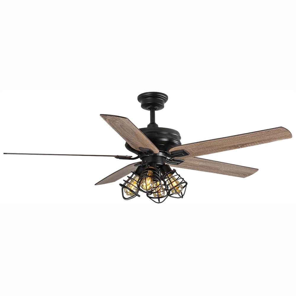 Home Decorators Collection Carlisle 60 In Led Matte Black Ceiling Fan With Remote Control And