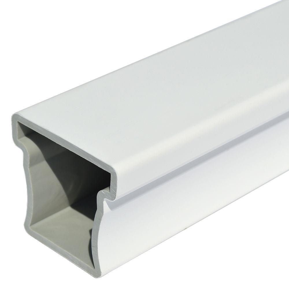 Veranda Enclave 2-3/4 in. x 3 in. x 6 in. White Capped Composite Top Rail Sample
