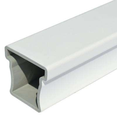 Enclave 2-3/4 in. x 3 in. x 6 in. White Capped Composite Top Rail Sample