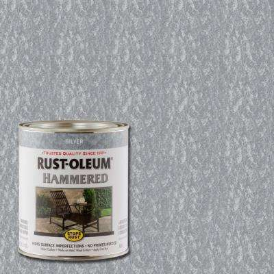 1 qt. Silver Hammered Rust Preventive Interior Paint (Case of 2)