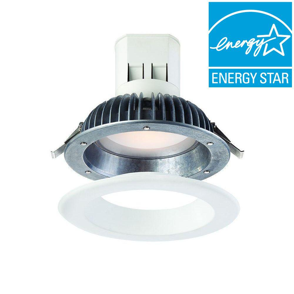 Envirolite easy up with magnetic trim 6 in white integrated led envirolite easy up with magnetic trim 6 in white integrated led recessed kit ev608941wh30 the home depot greentooth Image collections