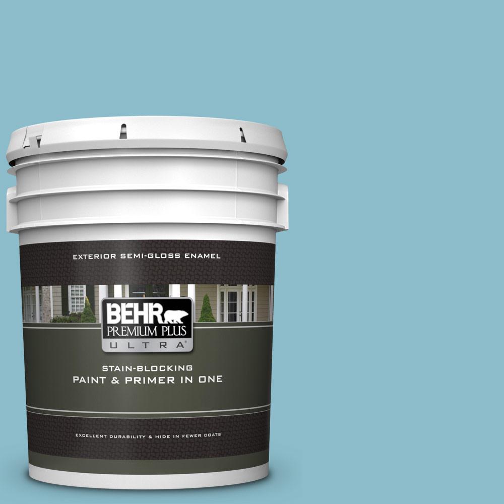 Behr Premium Plus Ultra 5 Gal S460 3 Blue Echo Semi Gloss