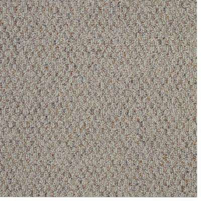 Carpet Sample Picture Color White Pewter Berber 8 In X