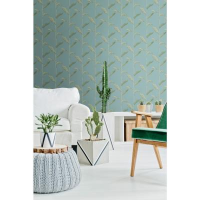 Nomad Collection Stalks in Juniper Removable and Repositionable Wallpaper