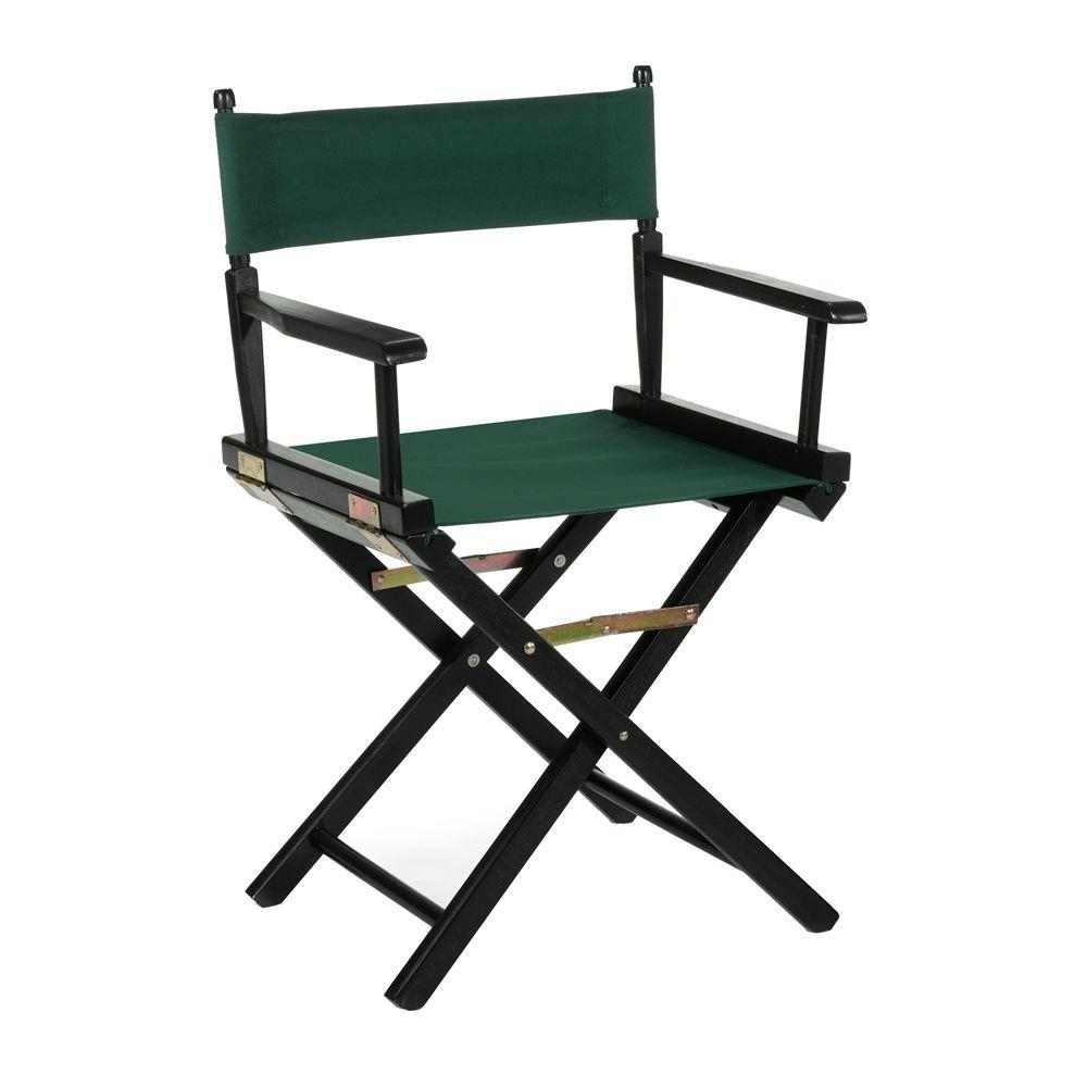 Casual Home Black Wood Folding Director's Chair