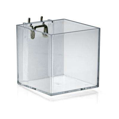 4 in. Cube Bin for Pegboard or Slatwall