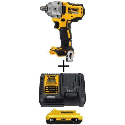20-Volt MAX XR Lithium-Ion Cordless Brushless 1/2 in. Impact Wrench with (1) 20-Volt Battery 3.0Ah and Charger