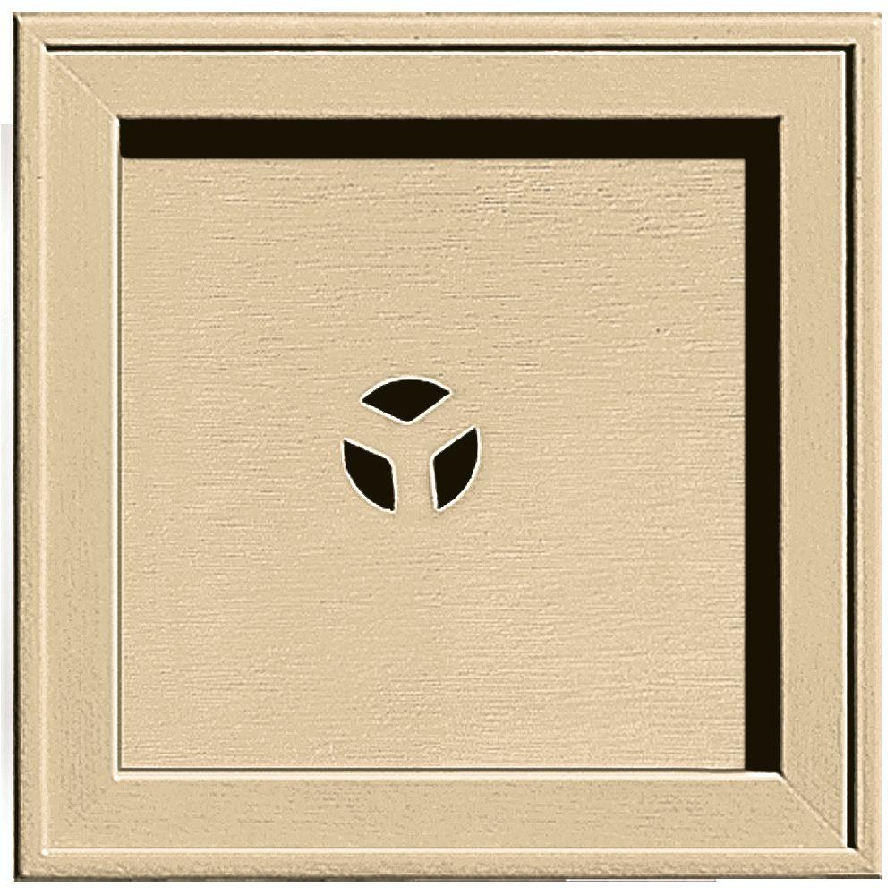 7.75 in. x 7.75 in. #012 Dark Almond Recessed Square Mounting