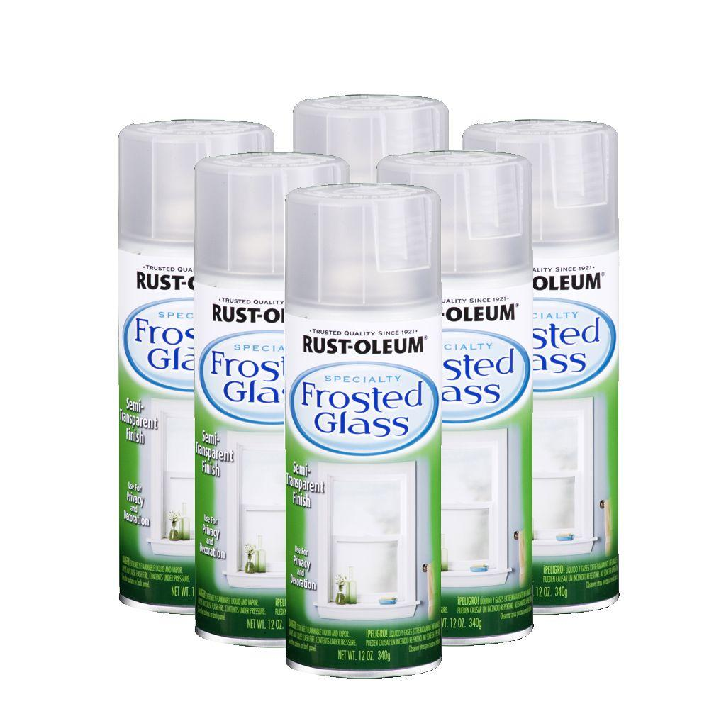 Rust-Oleum Specialty 12 oz. Flat Frosted Glass Spray Paint (6-Pack)-DISCONTINUED