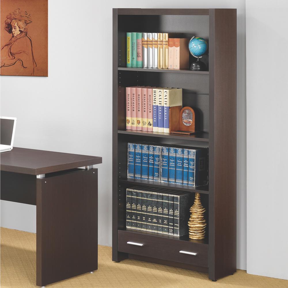 Skylar Cappuccino Bookcase