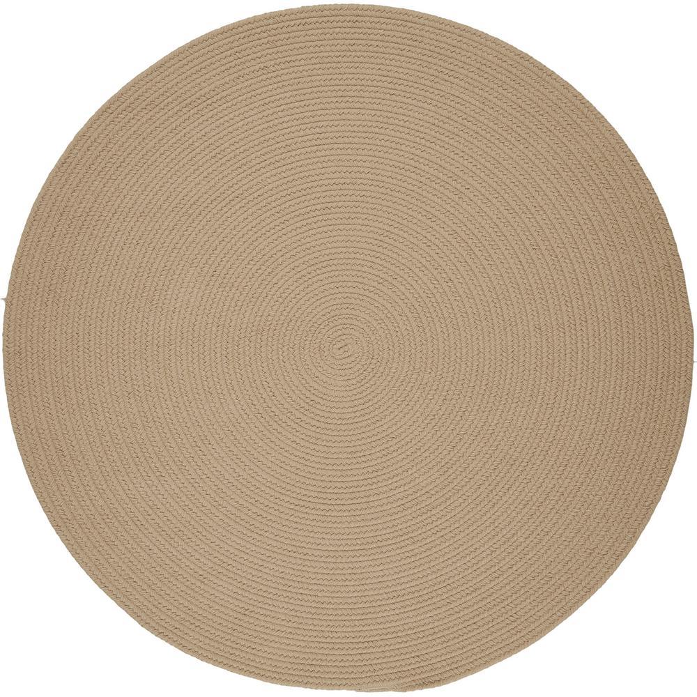Rhody Rug Joy Braids Solid Sand Beige 4 Ft X Round Indoor