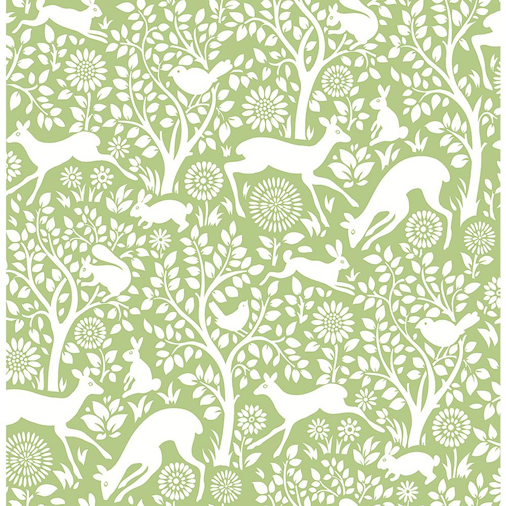 Meadow Green Animals Wallpaper