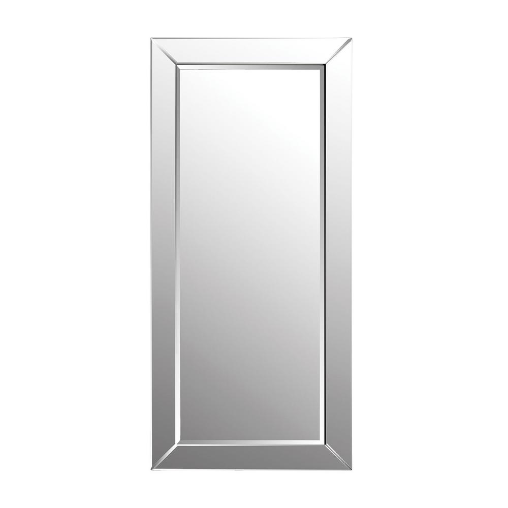 Titan Lighting 78 in. x 36 in. Glass Framed Leaning Floor Mirror-TN ...