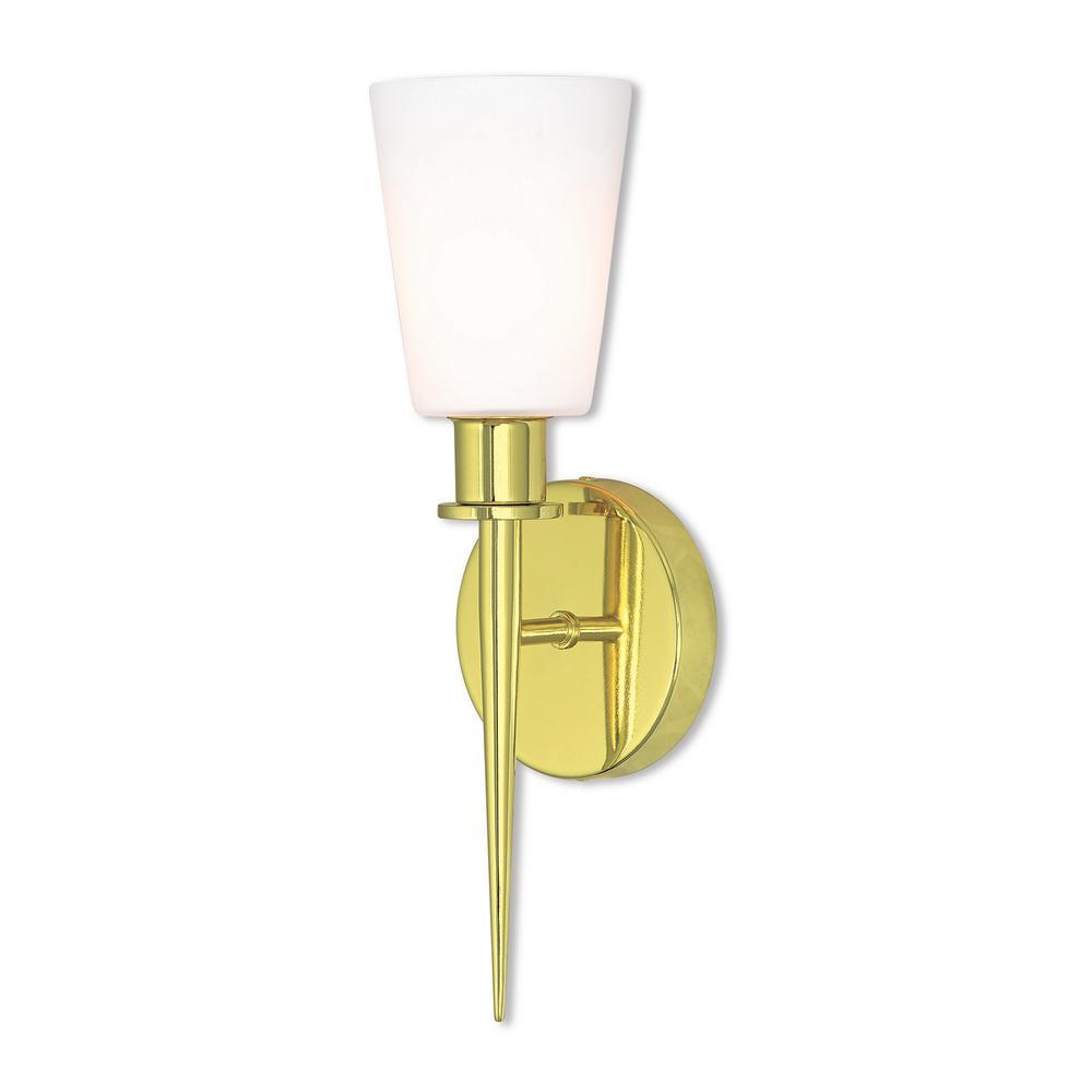 Witten 1-Light Polished Brass ADA Wall Sconce