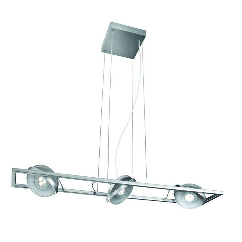 Philips Orbit 3-Light Integrated Brushed Nickel LED Hanging Pendant