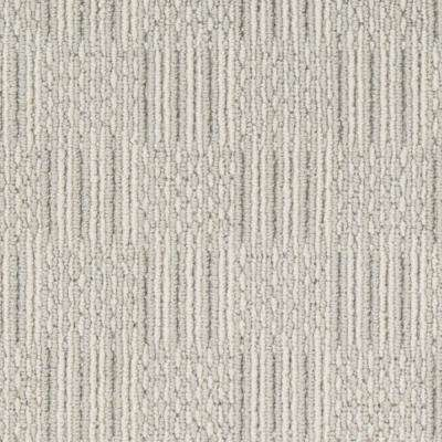 Carpet Sample - Upland Grid - Color Pebblestone Loop 8 in. x 8 in.