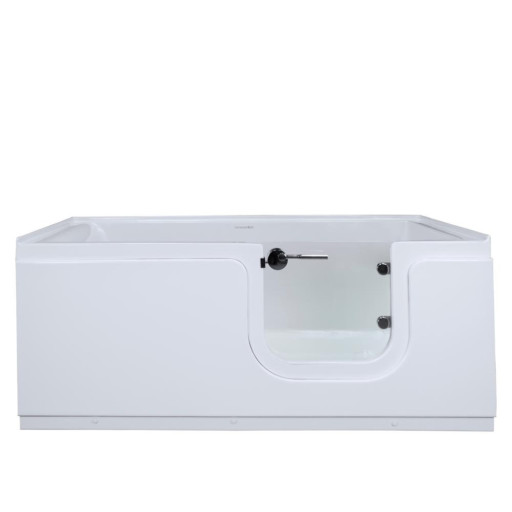 Homeward Bath Aquarite 5 ft. Acrylic Freestanding Step-In Air Bath ...