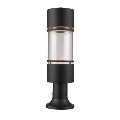 Kadhi 1-Light Outdoor Rubbed Bronze LED Outdoor Post Mount with Clear Glass