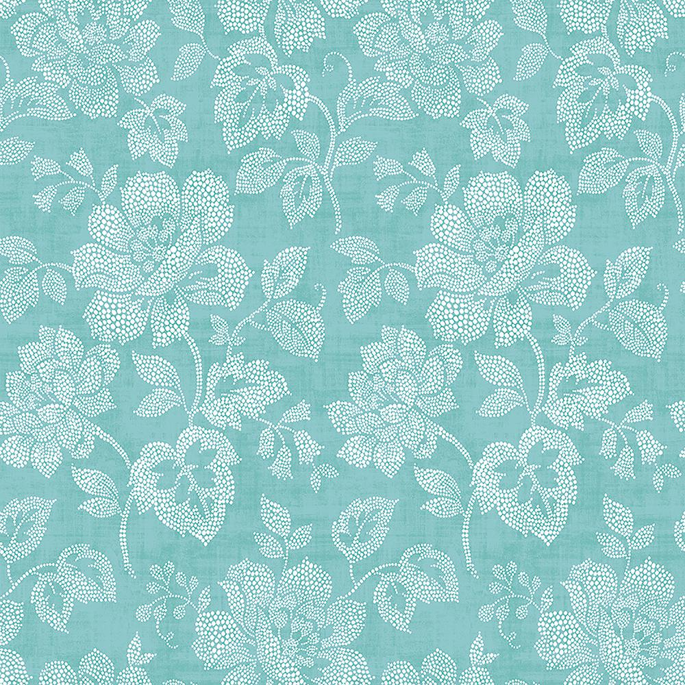 A Street Tivoli Turquoise Floral Wallpaper 2702 22735 The Home Depot