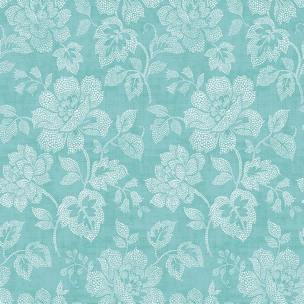 A-Street Tivoli Turquoise Floral Wallpaper Sample 2702-22735SAM