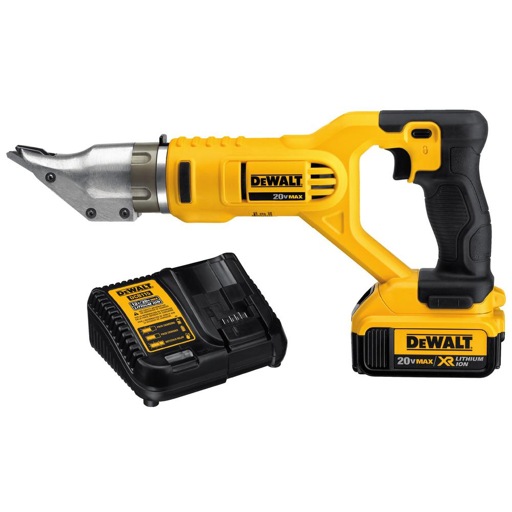 Swivel Head Offset Shears 20-Volt MAX Lithium-Ion Cordless 18-Gauge Tool-Only