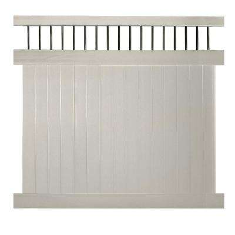 Bradford 7 ft. H x 6 ft. W Tan Vinyl Privacy Fence Panel Kit