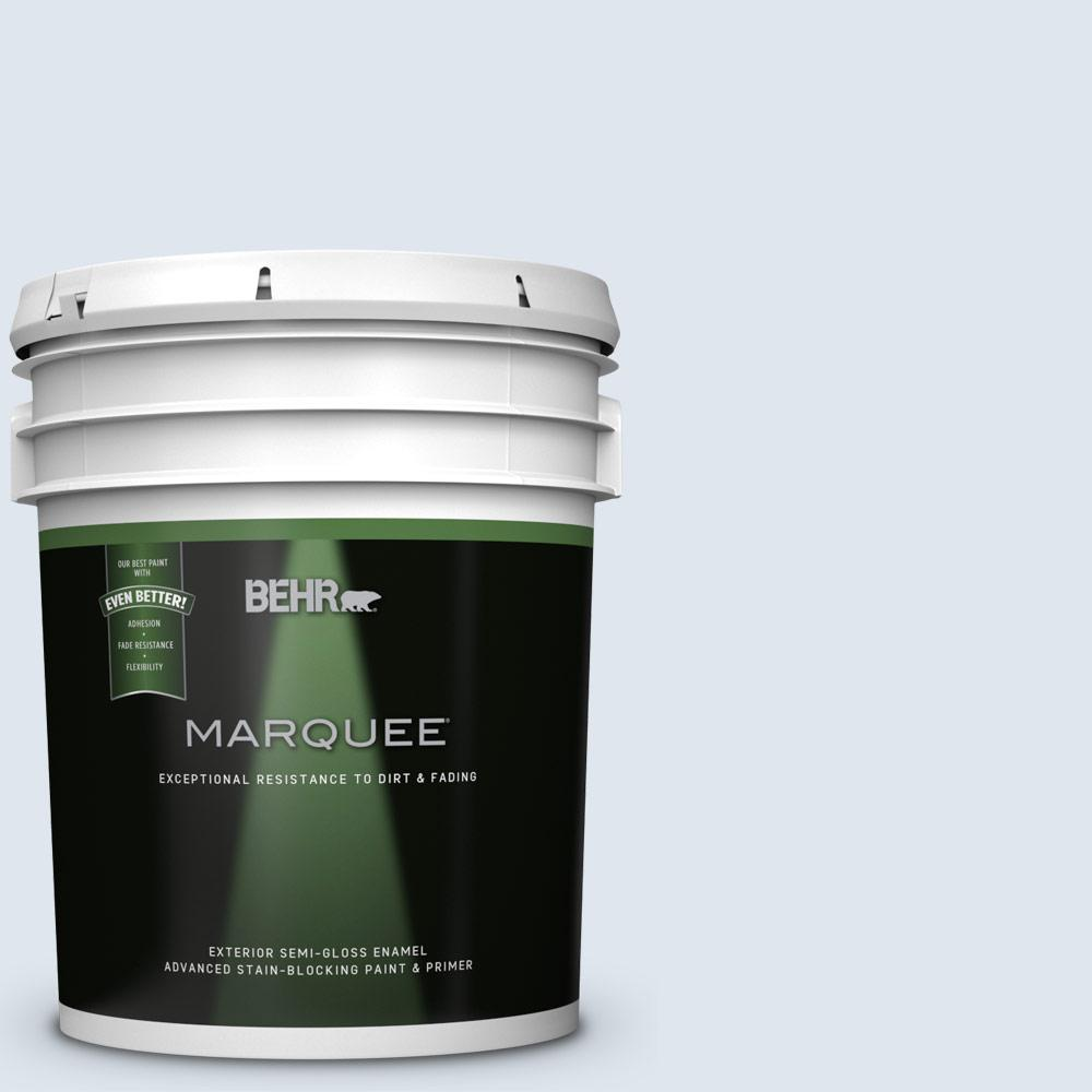 BEHR MARQUEE 5-gal. #590C-1 Morning Haze Semi-Gloss Enamel Exterior Paint