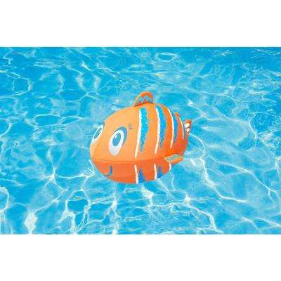 Fish Swimming Pool Beach Ball, Orange