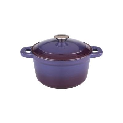 Neo 3 Qt. Round Purple Cast Iron Dutch Oven with Lid