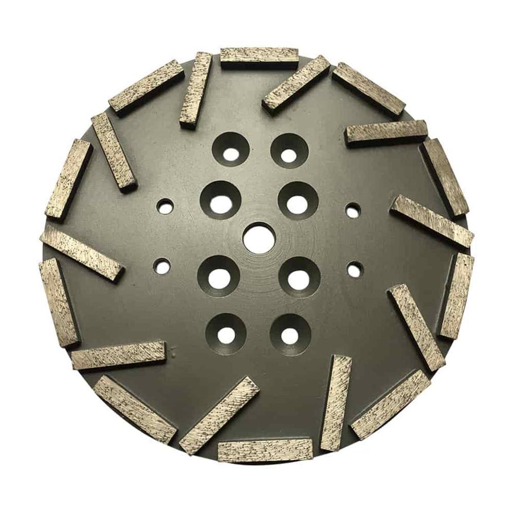 10 in  #40/50 Grit Diamond Grinding Disc Plate for Edco, MK, Husqvarna, and  Blastrac Floor Grinders