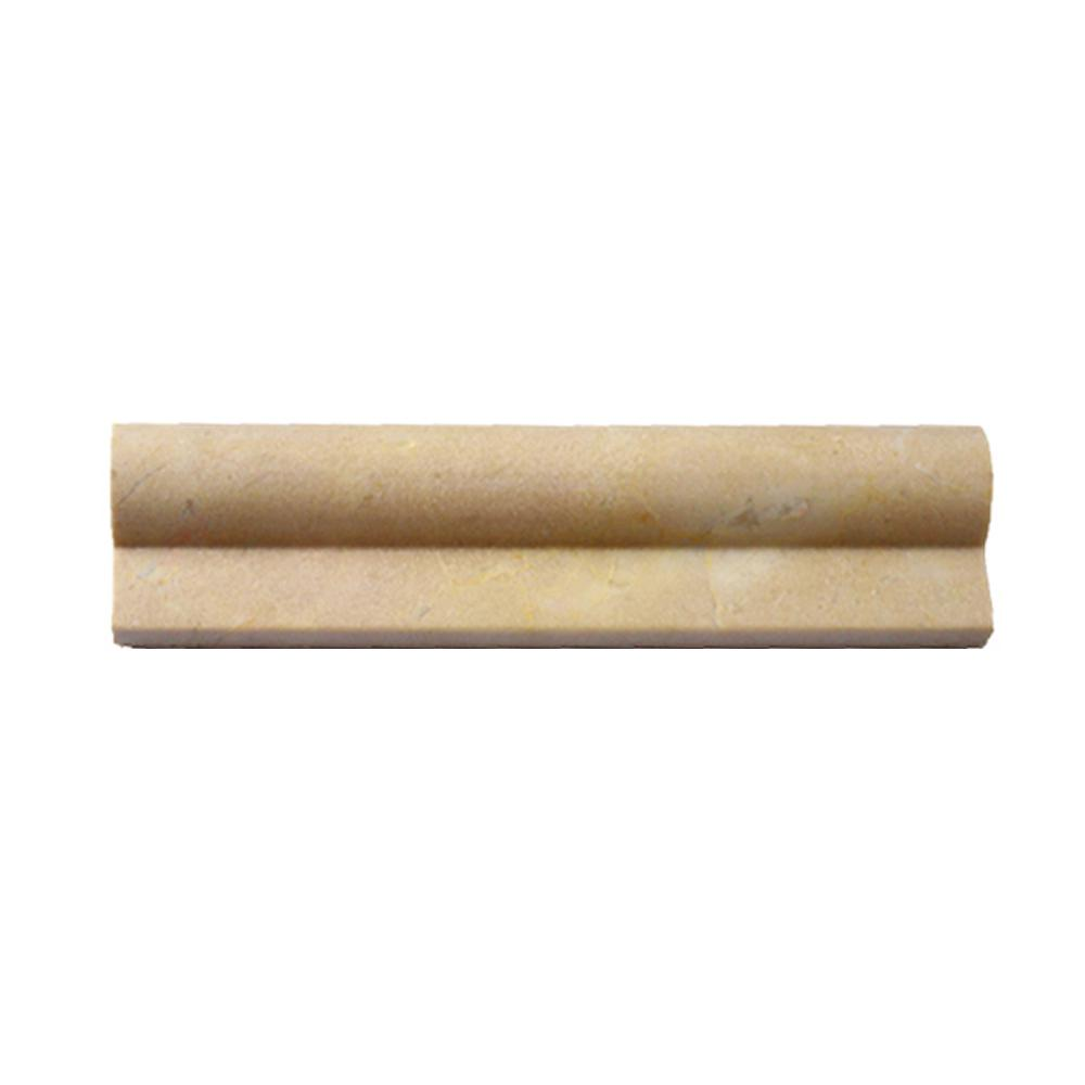 Ivy Hill Tile Brushed Crema Marfil Honed Marble Chair Rail