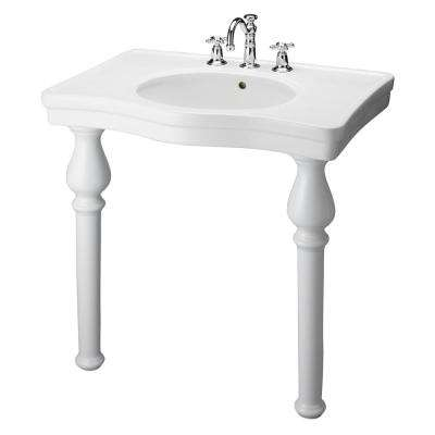 Milano 33.25 in. Console Table Combo in White