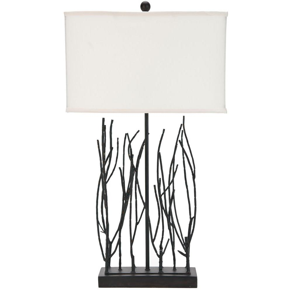 Perfect Cream Faille Twig Lamp