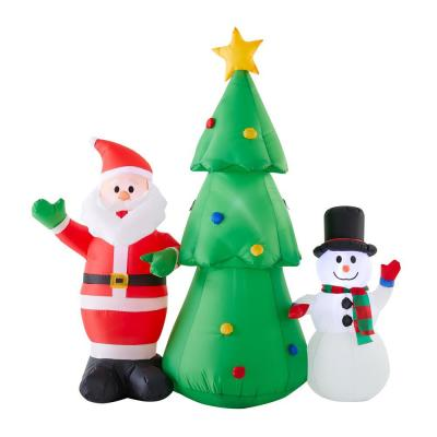 Tethers Tree Christmas Inflatables Outdoor Christmas Decorations The Home Depot