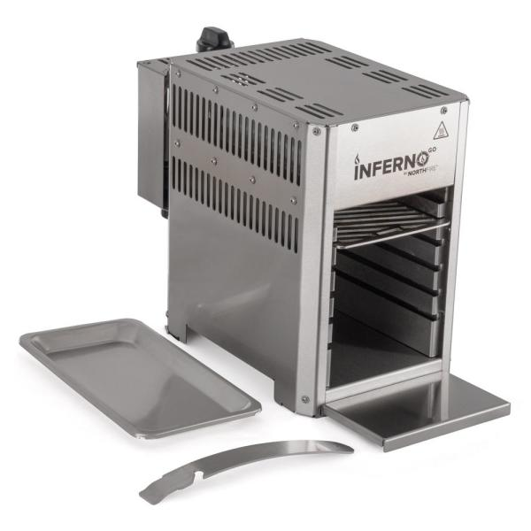 Portable InfernoGo Propane Infrared Grill in Silver