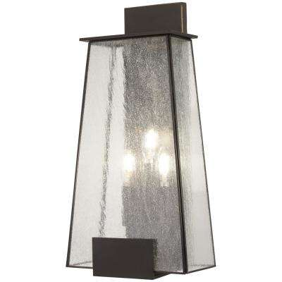 Bistro Dawn 3-Light Dakota Bronze Outdoor Wall Mount Lantern